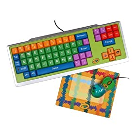 Crayola Keyboard w/ Mouse and Mouse Pad Bundle