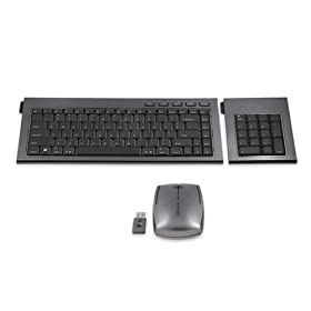 Kensington SlimBlade Media Notebook Set with Wireless Keyboard, Laser Mouse, and Numeric Keypad (Graphite) K72279US