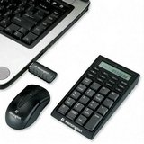 Kensington Wireless Notebook Keypad/Calculator and Mouse Set - Keypad - wireless - RF - mouse - USB wireless receiver - black
