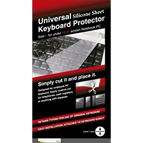 Green Onions Supply RT-KBU01 Universal Silicone Sheet Notebook Keyboard Protector for Laptop Screen Sizes up to 15.4-Inch Keyboard