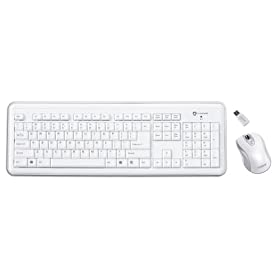Buslink RF-6572-WH I-ROCKS RF 2.4GHz Wireless Keyboard with 5 Button Optical Mouse (White)