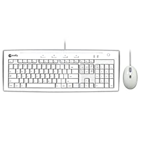 Macally IKEY5COMBO USB Slim Keyboard and Optical Game Mouse Combo