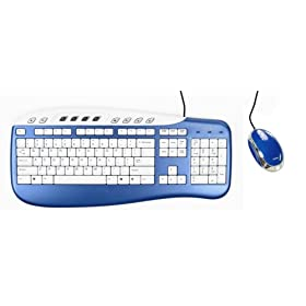 Saitek USB Keyboard & Mouse Combo - Blue