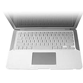 Rasfox MacBook Air Keyboard Skin (covers keyboard and palm area) - color White